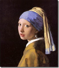 維梅爾(Jan Vermeer):戴著珍珠耳環的少女Girl with a pearl earring