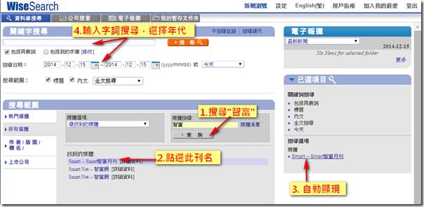 方法一-限定刊名字詞年代搜尋特定文章